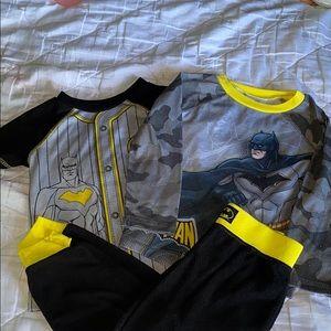 Batman Toddler Boy 3 Piece Fleece Pajama Set